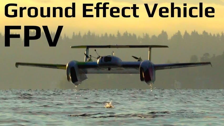 Long Range Hyperlapse FPV on a Autonomous Ground Effect Vehicle Drone
