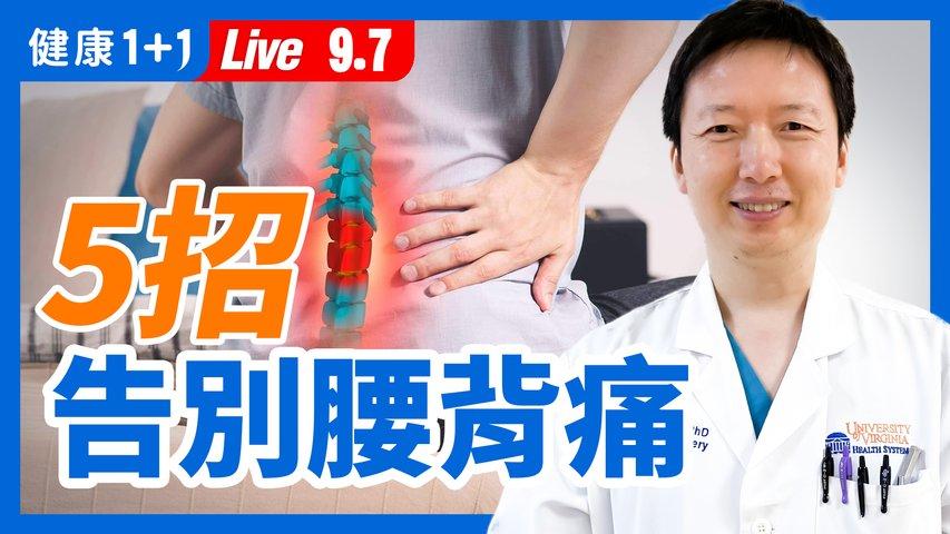腰背痛 這些動作緩解!經常腰背痛,家裡常備藥物有哪些?哪些人不能吃?幹細胞治療腰痛萬能?封閉療法、手術治療會不會留後遺症、有沒有副作用?【直播】(2021.9.7)| 健康1+1