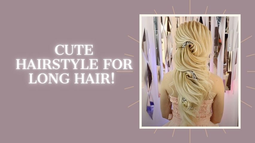 Cute hairstyle for long hair!