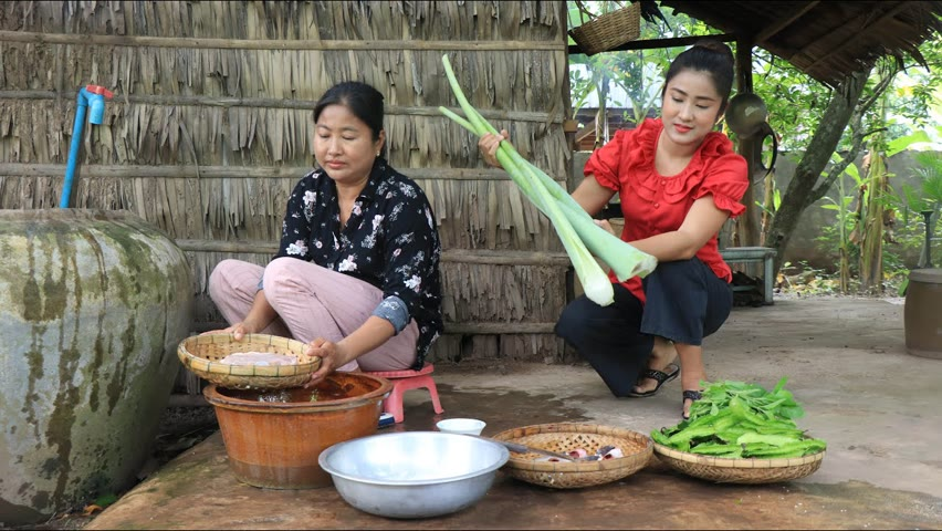 Countryside life TV: We use taro stalk and winged beans for cooking / Healthy food cooking