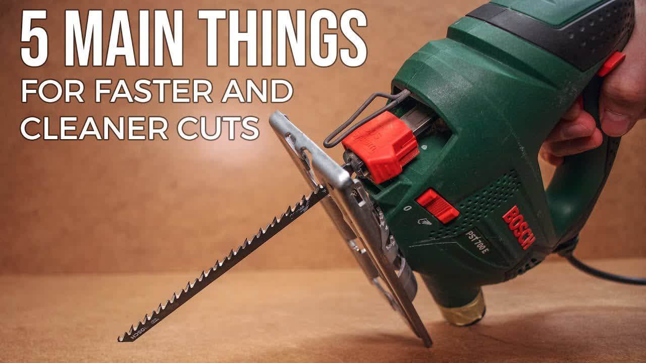 5 Main Things for Faster & Cleaner Cuts with a Jigsaw/Jigsaw-Table (DIY BASICS)
