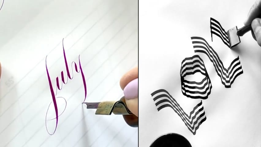 SOME RELAXING CALLIGRAPHY AND HAND LETTERING | AMAZING CALLIGRAPHY MASTERS
