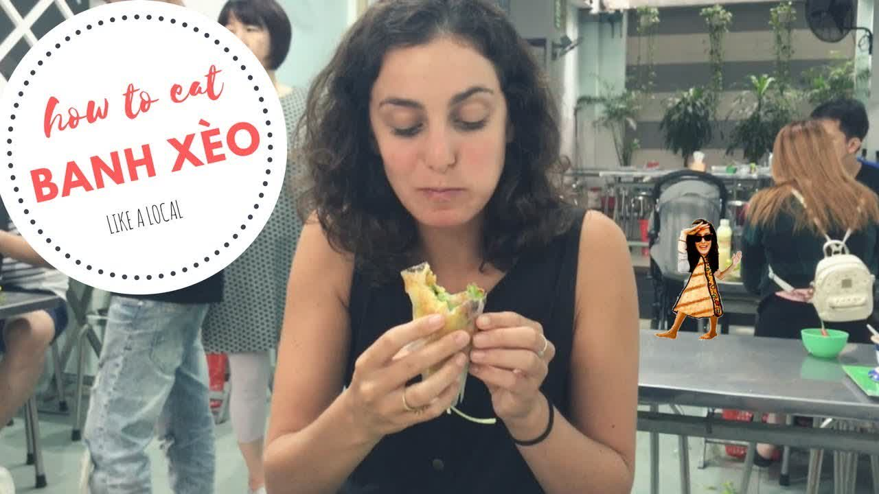 How to Eat Banh Xèo Like a Local (Vietnamese Sizzling Crepe!)