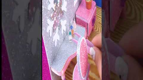 How To Make Miniature Elsa Bedroom   DIY Miniature House #shorts