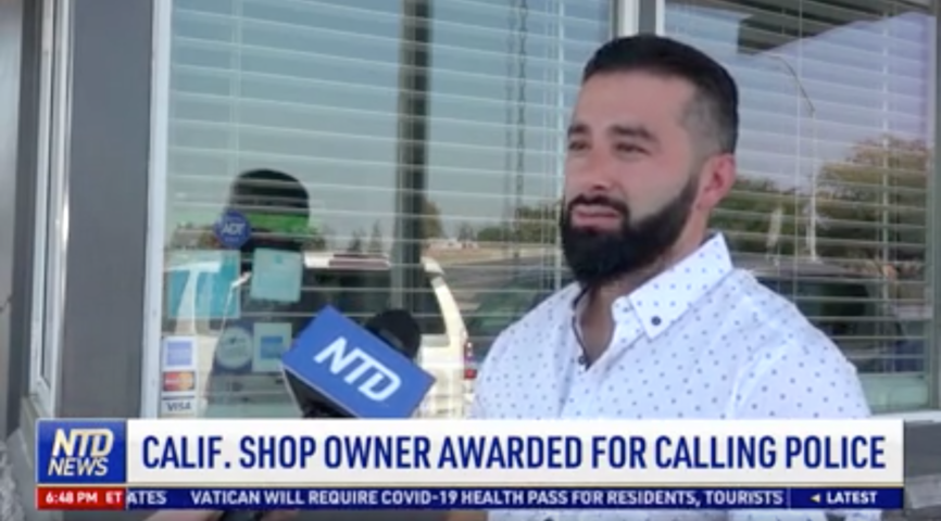 California Shop Owner Awarded for Calling Police