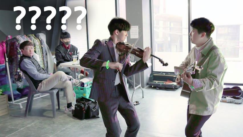 대기실에서 바이올린 미친 속주 레전드 나옴 ㄷㄷ '폭풍'