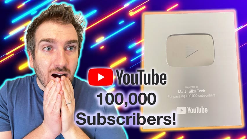 YouTube 100K Silver Play Button Unboxing... delayed video!