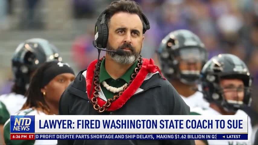 Lawyer: Washington State Coach Fired Over Vaccine Mandate to Sue