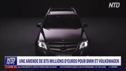 L'UE inflige une lourde amende aux constructeurs automobiles allemands