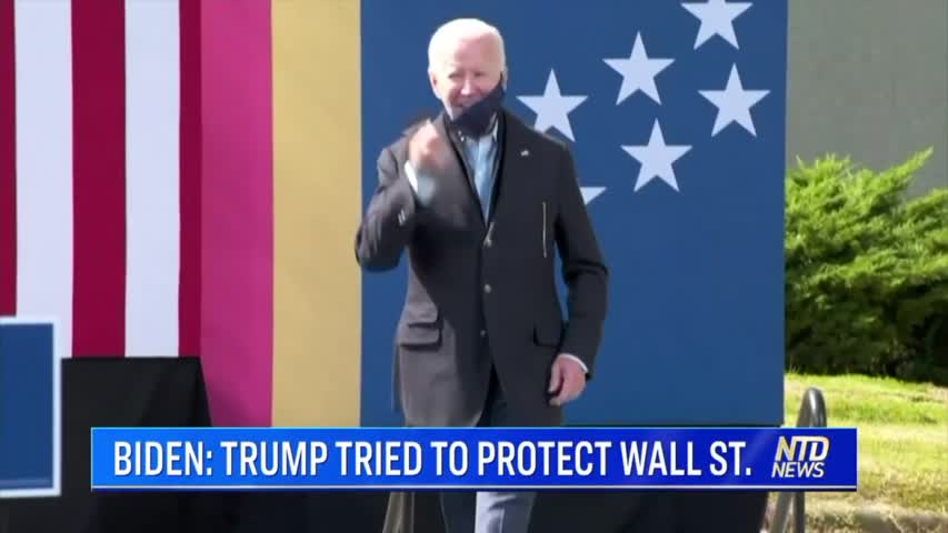 BIDEN: TRUMP TRIED TO PROTECT WALL ST.