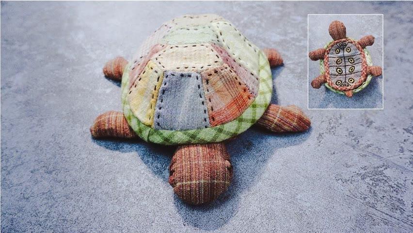 DIY Christmas Gift Idea┃Cute tortoise Storage pouch