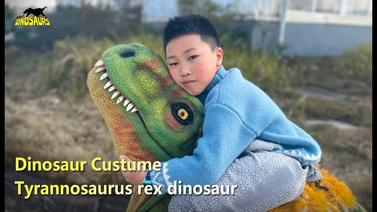 Lifelike Boy Riding Dinosaur Costume | Costumes