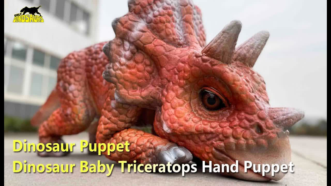 Dinosaur Puppet: Dinosaur Baby Triceratops Hand Puppet | Puppets