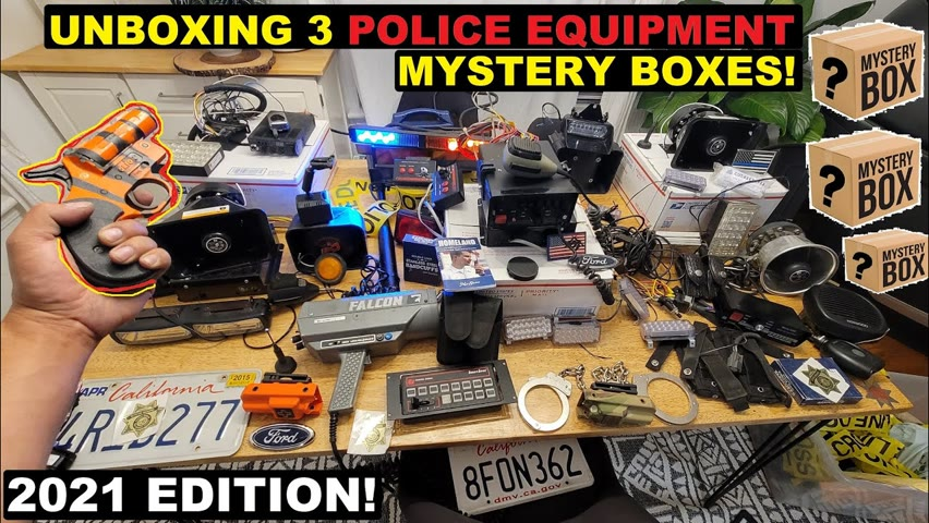 Unboxing 3 Police Equipment Mystery Boxes!   Crown Rick Auto 2021