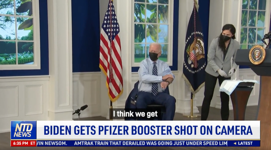 Biden Gets Pfizer Booster Shot on Camera