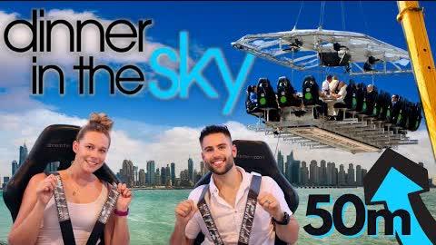 VERTIGO ALERT / Dinner In The Sky / Hanging From A Crane 164ft In The Air