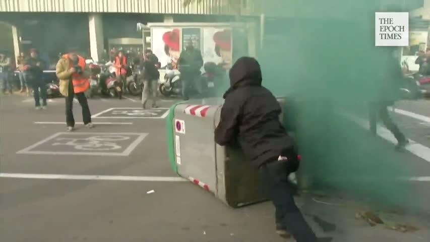 Våldsamma protester i Barcelona