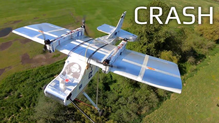 Huge Foam Cargo Plane Crash