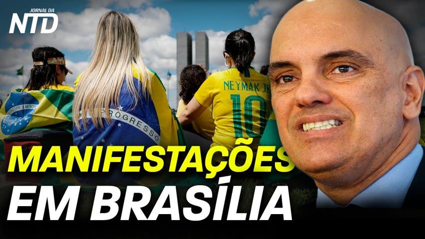 Povo vai às ruas em Brasília e São Paulo em manifestações pró-liberdade; Bolsonaro discursa