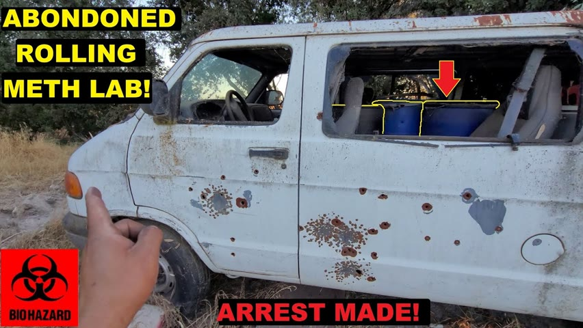 Searching An Abandoned Rolling Meth lab!   Arrest Made! Crown Rick Auto