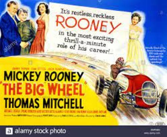 THE BIG WHEEL (1949) | Old movie | Sport drama starring Mickey Rooney