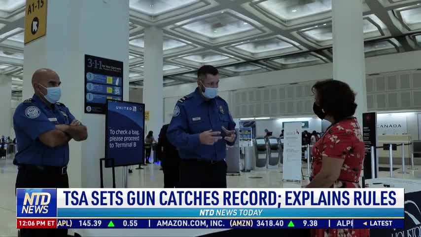 TSA Sets Gun-Catches Record, Explains Rules for Flying With Firearms