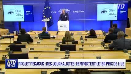 Les journalistes du Projet Pegasus remportent le premier de l'UE