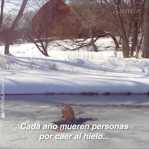 Autorescate en un lago congelado