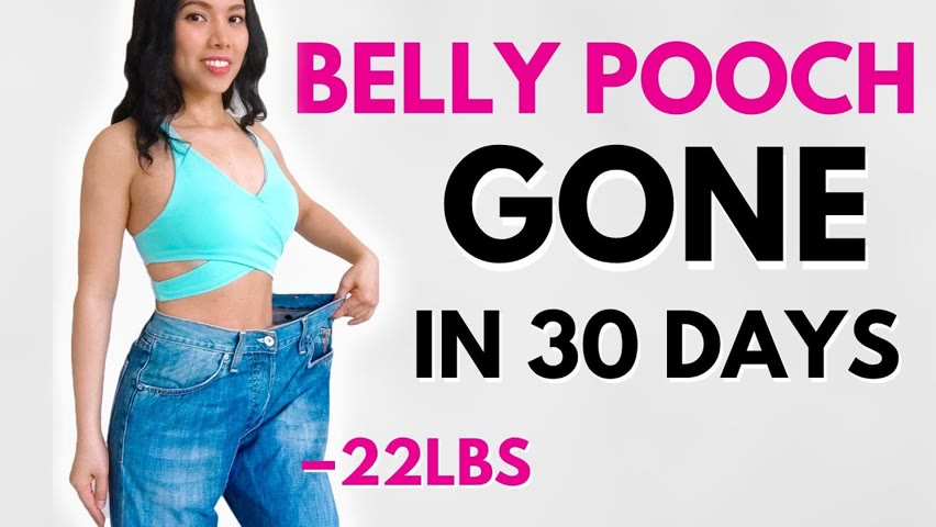 COMPLETE  workout to lose hanging belly pooch IN 30 DAYS, FAST WEIGHT LOSS DIET, summer bikini body