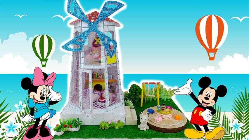 DIY Miniature Windmill House   DIY Miniature House   Cocokid Corner
