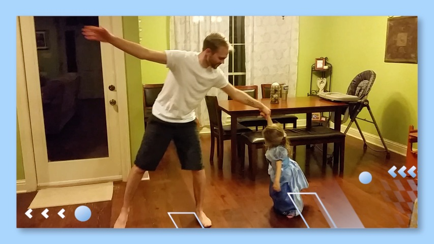 Dad Dances with Daughter to A Whole New World