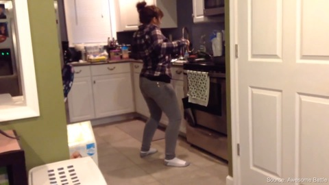 Caught Mom Dancing While Making Us Tacos
