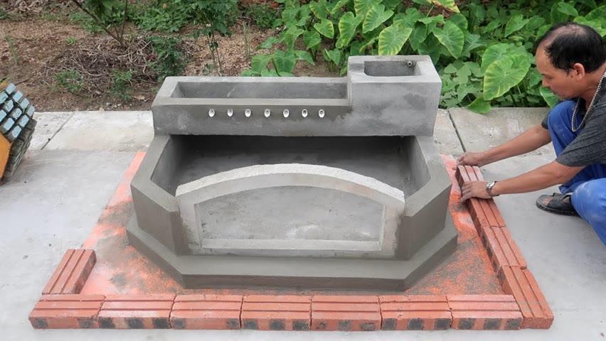 Creative Outdoor WaterFall Aquarium - Ideas Aquarium With Cement and Brick