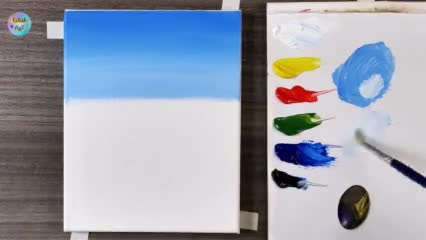 Spring landscape painting | Acrylic painting | step by step #269