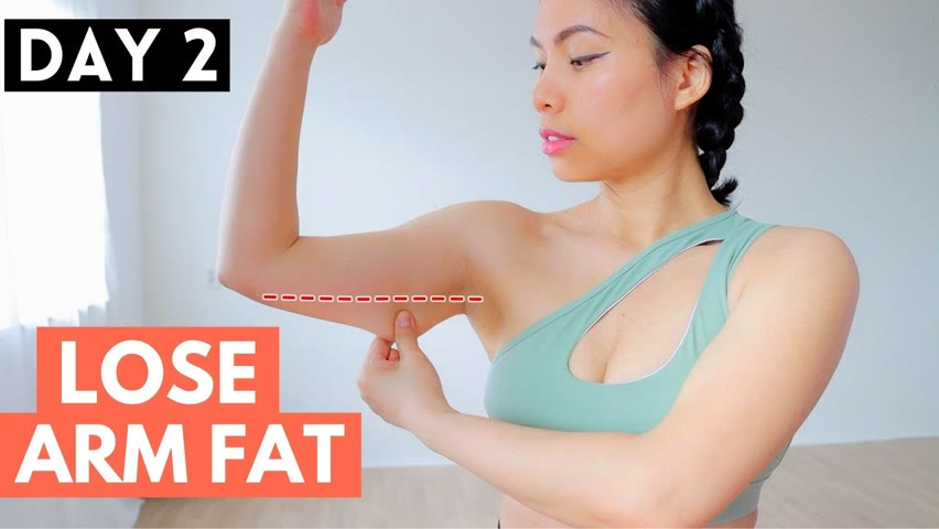 LOSE ARM FAT 30 day full body transformation SERIES 1, DAY 2 armpits, bra bulge, chest, shoulders