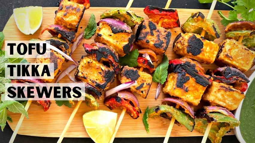 Tofu Skewers Easy Vegan BBQ Recipe || Vegan BBQ Skewers Recipe