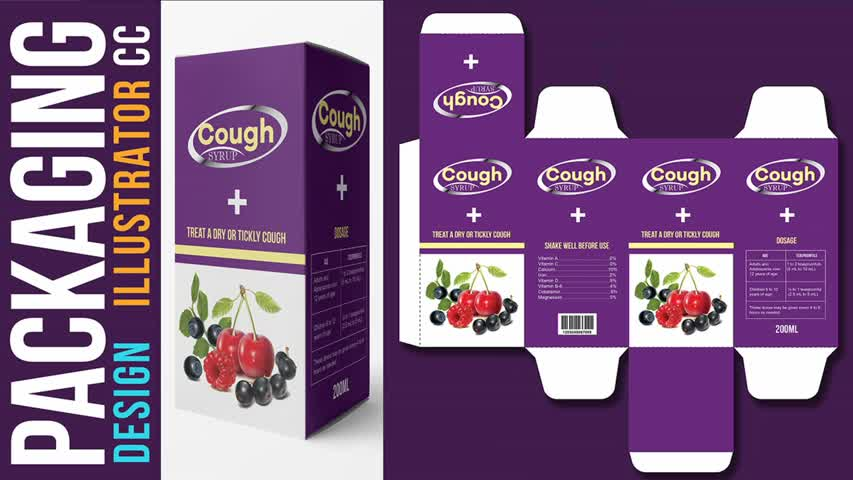 How to Create Packaging (Box) Layout Design in Adobe Illustrator CC 2021