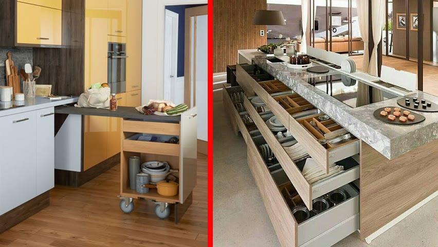 Fantastic Space Saving Kitchen Ideas and kitchen designs - Smart kitchen ▶9