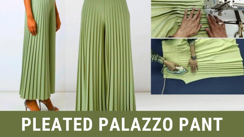 Pleated Palazzo Pant