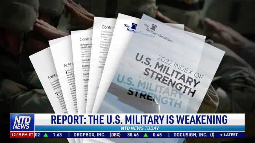 Report: US Military Strength is Weakening