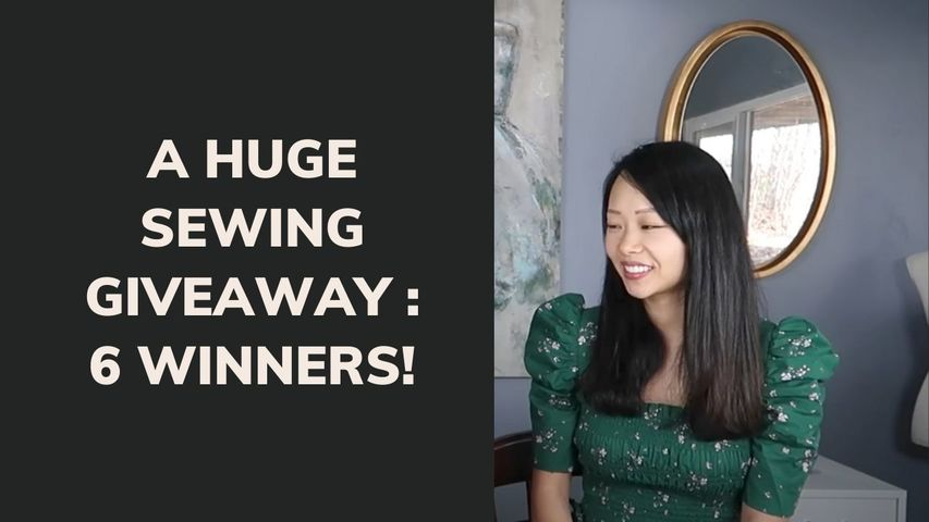 A HUGE SEWING GIVEAWAY : 6 WINNERS! | DIY/REFASHION/SEW
