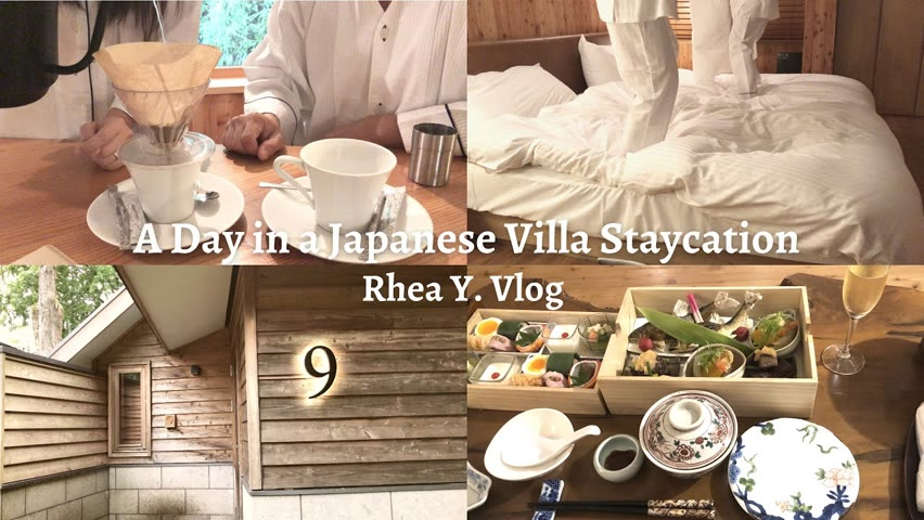 A Day in a Japanese Villa Staycation, 2nd Wedding Anniversary, Couple Vlog (Summer)