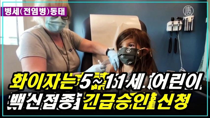 [병세동태] 화이자, 5~11세 어린이 예방접종 긴급 승인 신청, 12월 미국 관광객 급증할 것