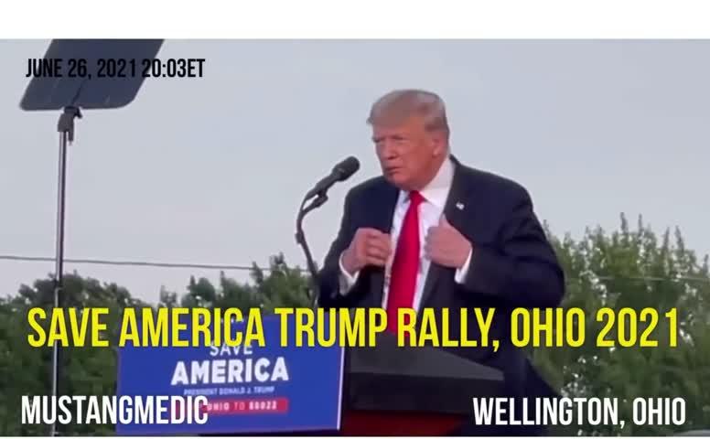 Parabole du serpent par Donald Trump en Ohio 26 06 2021, traduction Jocelyne Pauliac
