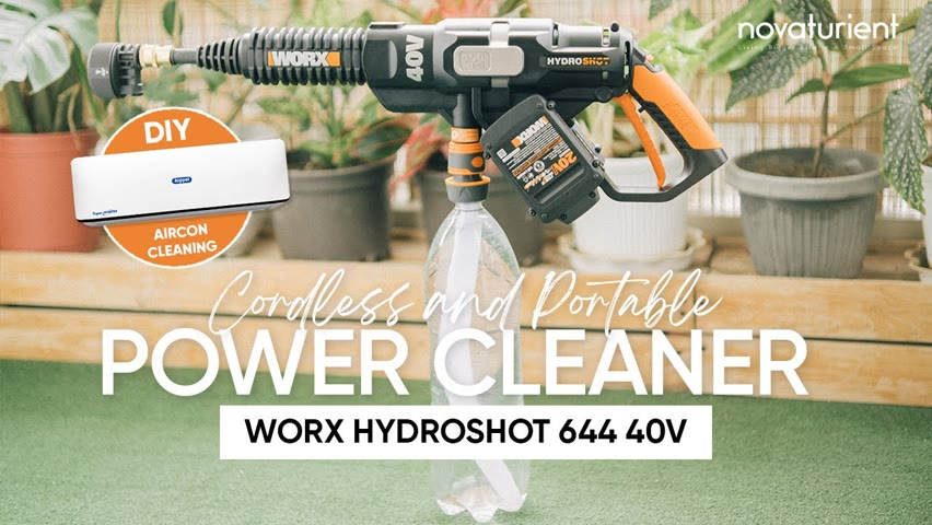 DIY Aircon Cleaning Using Worx Hydroshot Portable Power Cleaner | Father's Day Gift | Condo Living