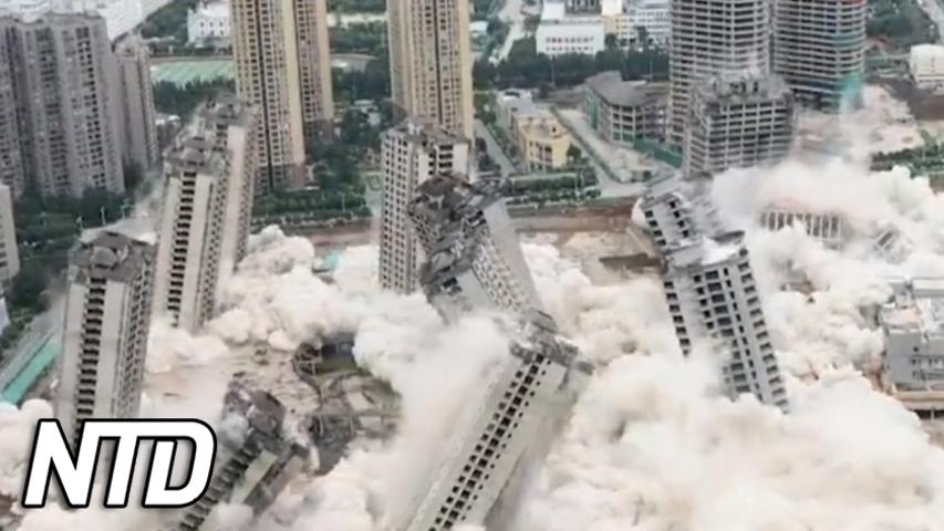 15 byggnader raserades på 45 sekunder i Kina | NTD NYHETER