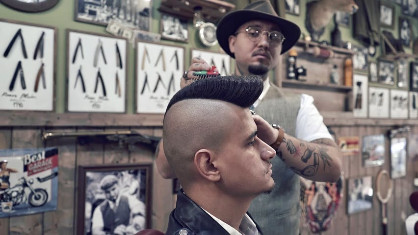 💈 ASMR BARBER - How To get an Old School PSYCHO QUIFF -