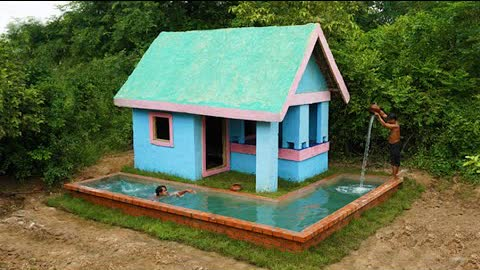 Building Custom Colors House Design, Small Indoor Swimming Pool And Brick Underground Swimming Pool