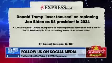Trump Is Laser-Focused On Saving America