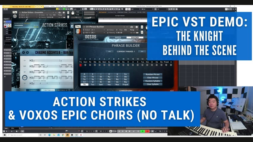 🎹Epic VST Demo: Action Strikes & VOXOS Epic Choirs (No Talk) - The Knight - Behind The Scene! 🎹